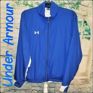 Under Armour Blue & White Performance Jacket, Med